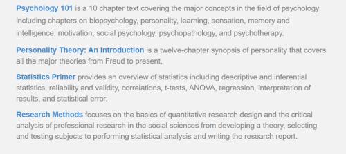 قسم Online Psychology Texts
