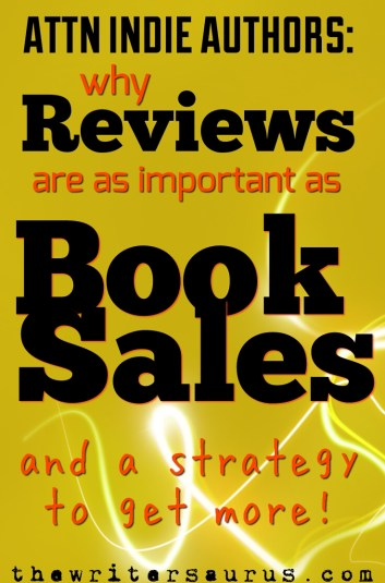 Why reviews are as important as book sales for indie authors. Only on The Writersaurus.