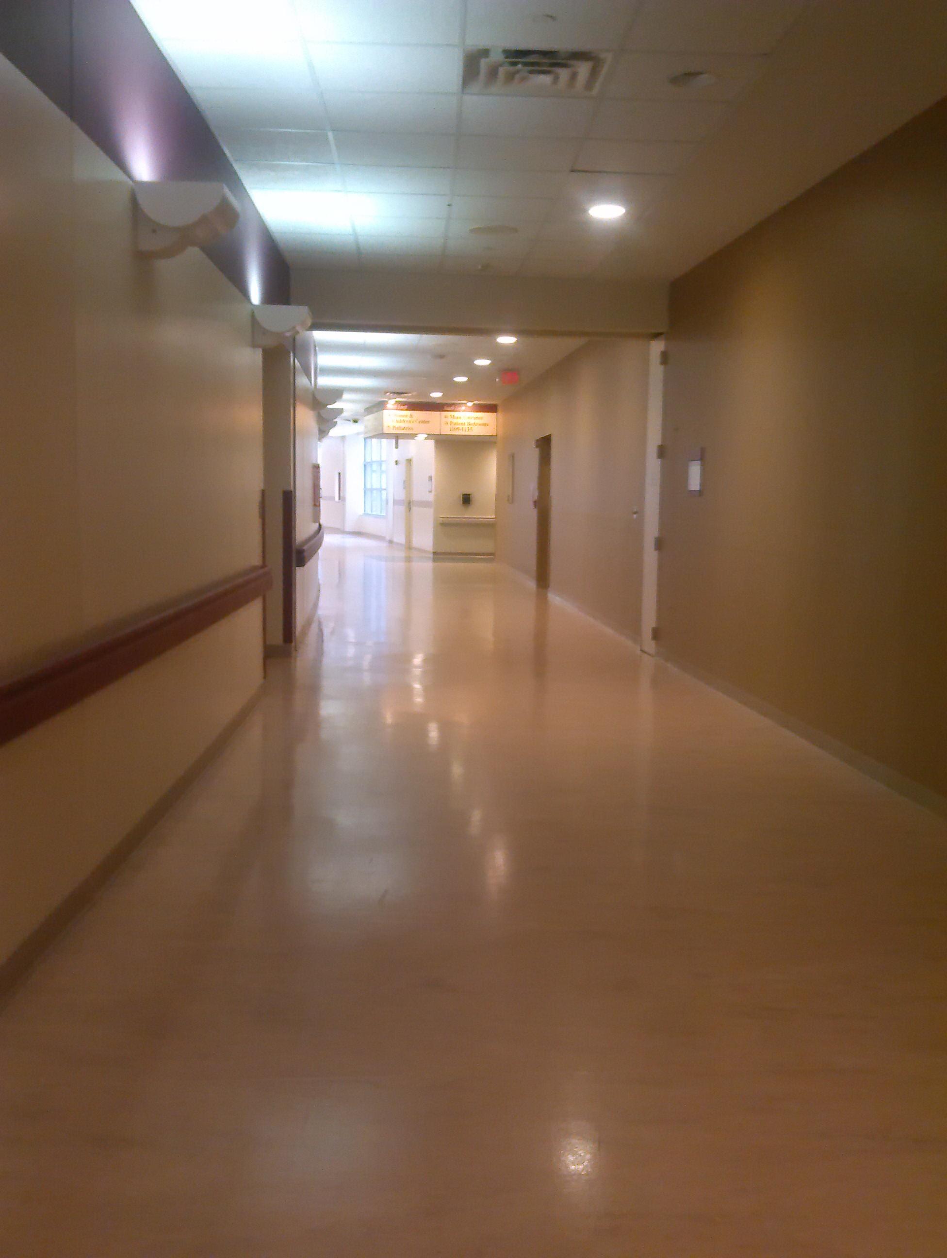 Long Creepy Hallway Genesys Hospital Writer' Block
