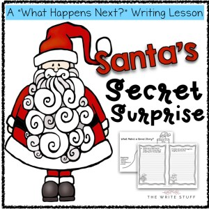 Santa's Secret Surprise writing