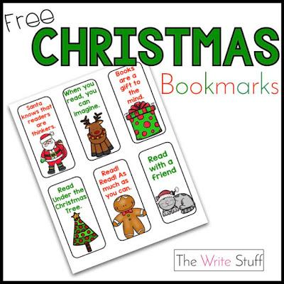 christmas booksmarks free