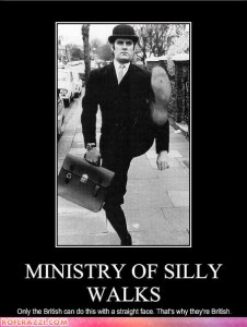monty python, ministry of silly walks, john cleese