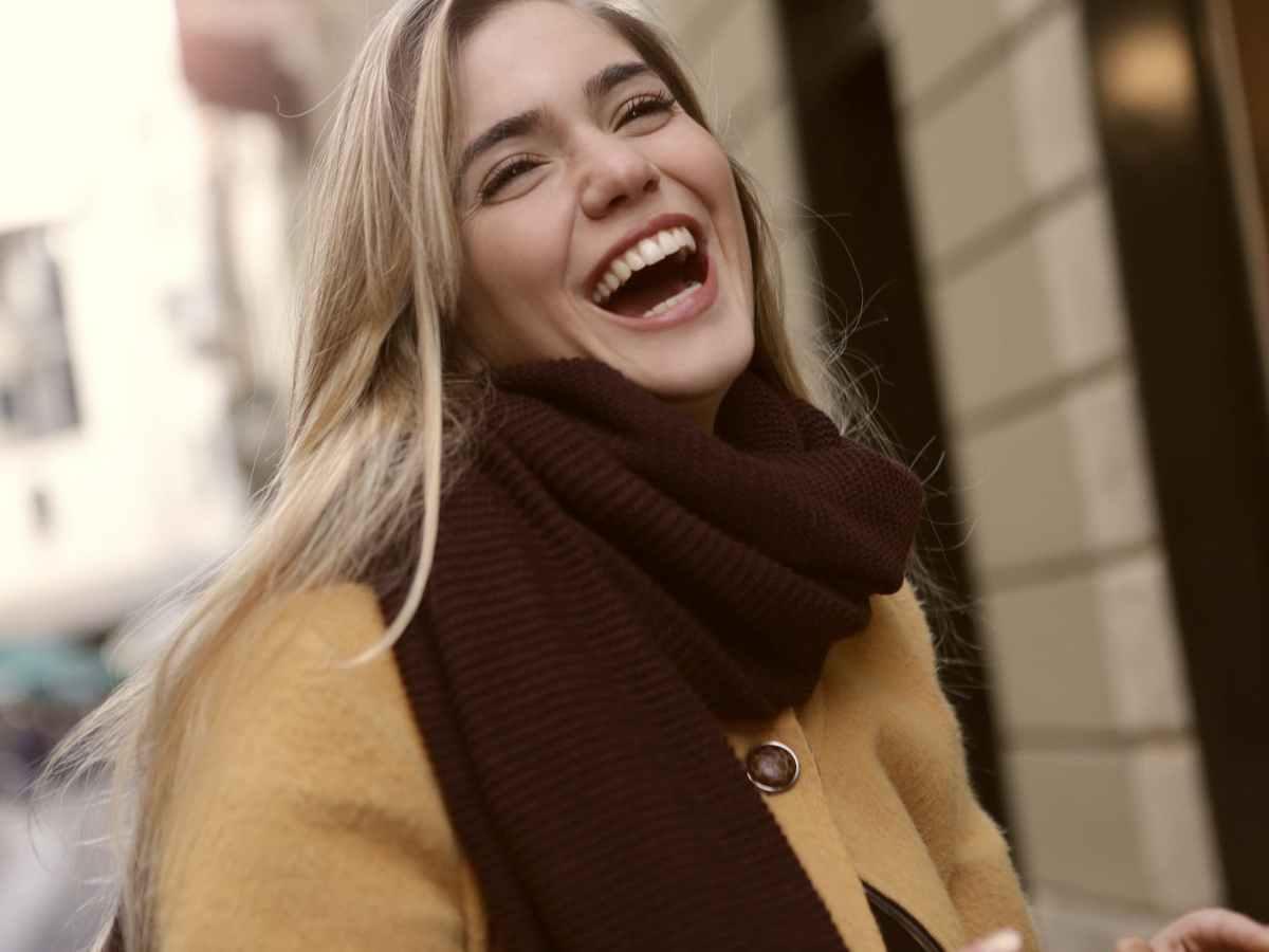 a joyous woman