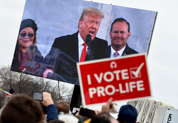 Donald Trump at the March for Life Rally 2020