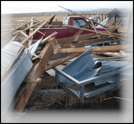 Wind damage examined by expert witness meteorologist.