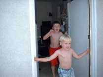 Our front door was always open and often you'd catch glimpses of two little boys running in or out.
