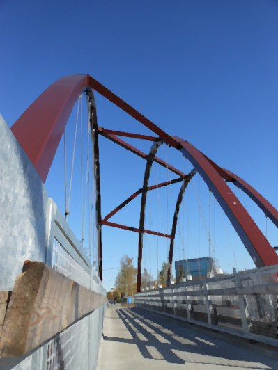 Another view of the bridge.