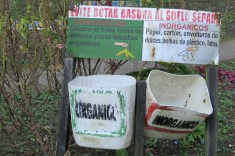 The UAC-Carmen Pampa is really good about composting, recycling, etc.