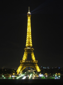 Nighttime Eiffel Tower