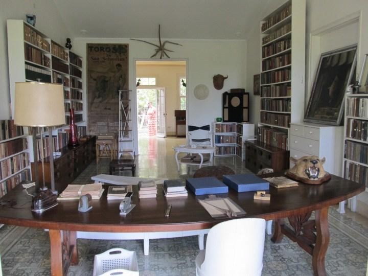 Hemingway's study at Finca Vigia
