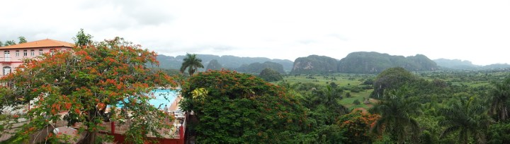 Mogotes at the best viewpoint in Viñales, Cuba