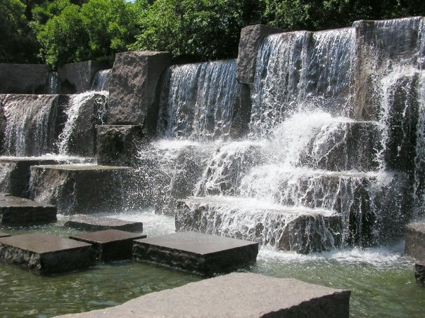 Waterfall at the FDR Memorial, Washington, DC
