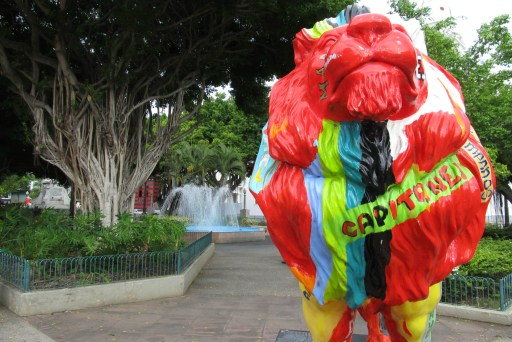 Painted lion in Ponce, Puerto Rico