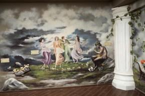 Mural at Meteora Mushroom Museum