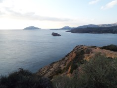 The sea at Cape Sounio