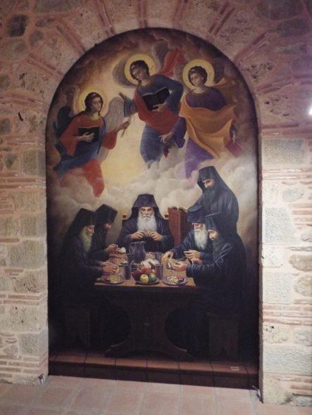 Mural at Varlaam Monastery