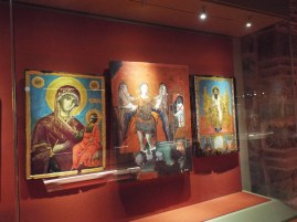 Religious icons at Varlaam Monastery