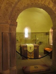 Interior of St. Margaret's Chapel, Edinburgh Castle