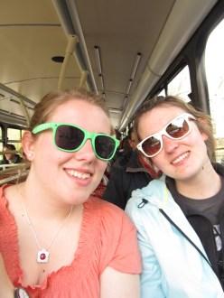 On the bus in Edinburgh