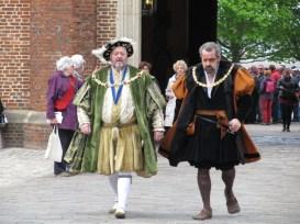King Henry VIII reenactors at Hampton Court Palace