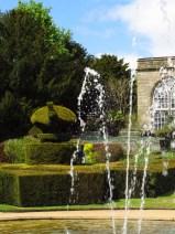 Peacock garden, Warwick Castle