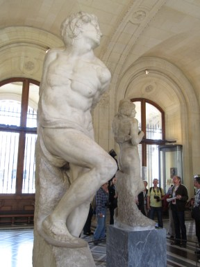 Michelangelo's Rebellious Slave, the Louvre