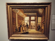 """Shop of the bookdealer Pieter Maijer Warnars on the Vijgendam in Amsterdam"" by Johannes Jelgershuis"