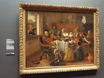 """The Merry Family"" by Jan Steen - I loved all of his paintings. He's so good at storytelling that they could have been illustrations in a book!"
