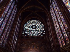 Rose window at Sainte-Chapelle