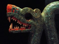 Aztec double-headed serpent, made of mosaic turquoise