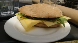 Delicious gouda sandwich