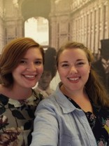 """We're not sure why the """"Romanovs and Revolution"""" exhibition warranted a selfie spot, but we went ahead and made use of it!"""