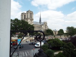 View of Notre Dame from Hotel Esmeralda