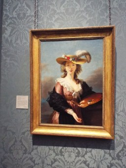 """Self Portrait in a Straw Hat"" by Elisabeth Vigee Le Brun"