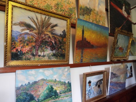 Impressionist Paintings in Claude Monet's home at Giverny