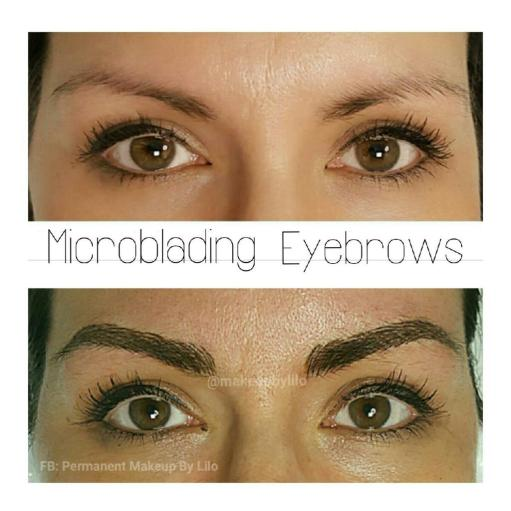 microblading - 4 weeks after - the healed view