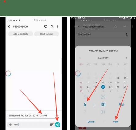 Schedule SMS Samsung