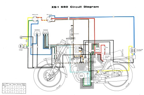 small resolution of yamaha xs650 wiring diagram wiring diagram mega 1977 xs650 wiring diagram 1977 xs650 wiring diagram