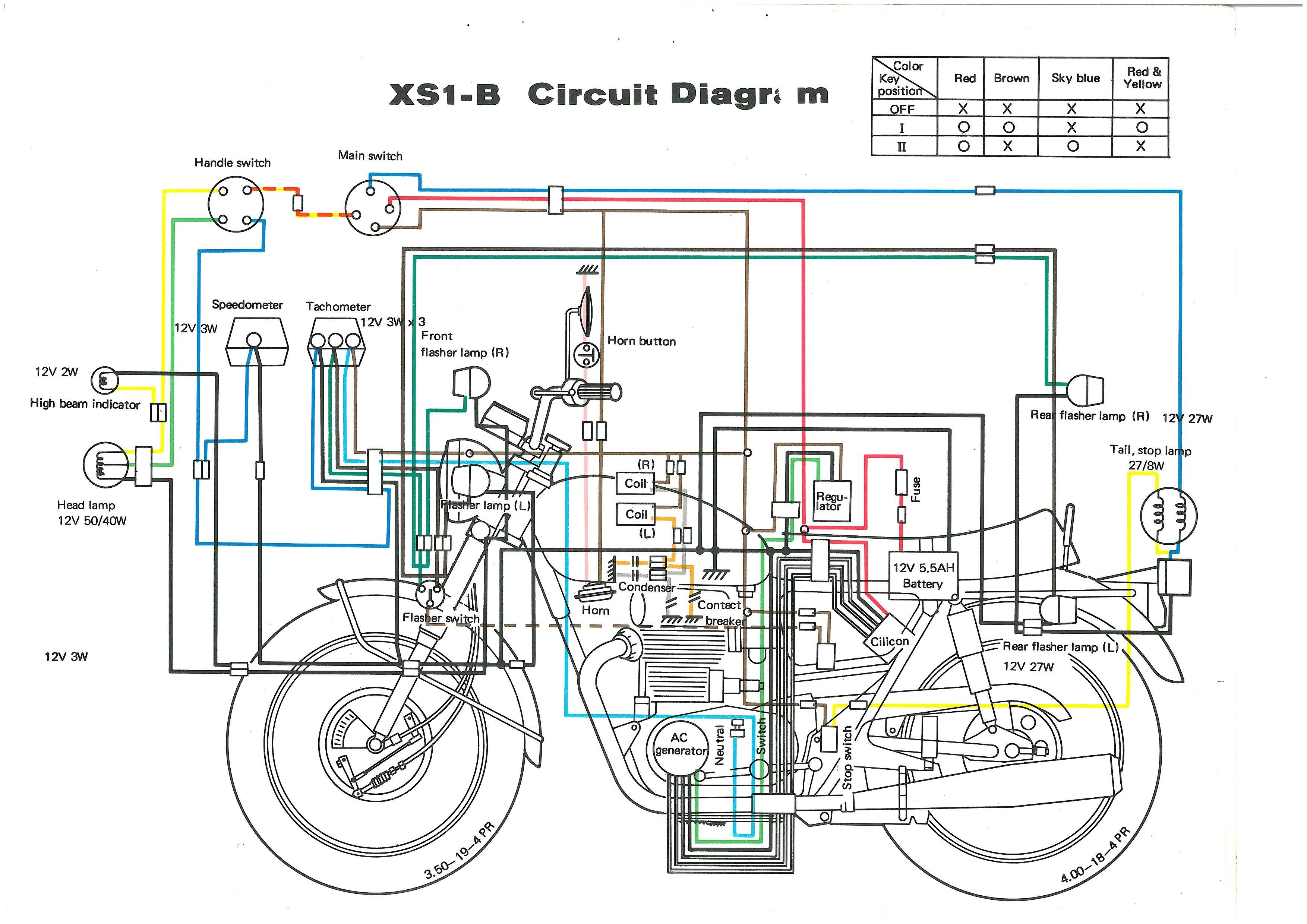 XS650 71 XS1B Wiring Diagram Thexscafe