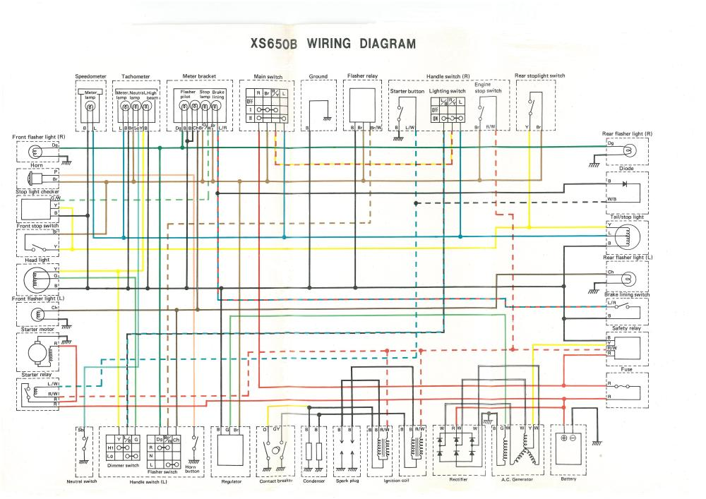 medium resolution of  wiring circuit diagram 76 xs650c 75