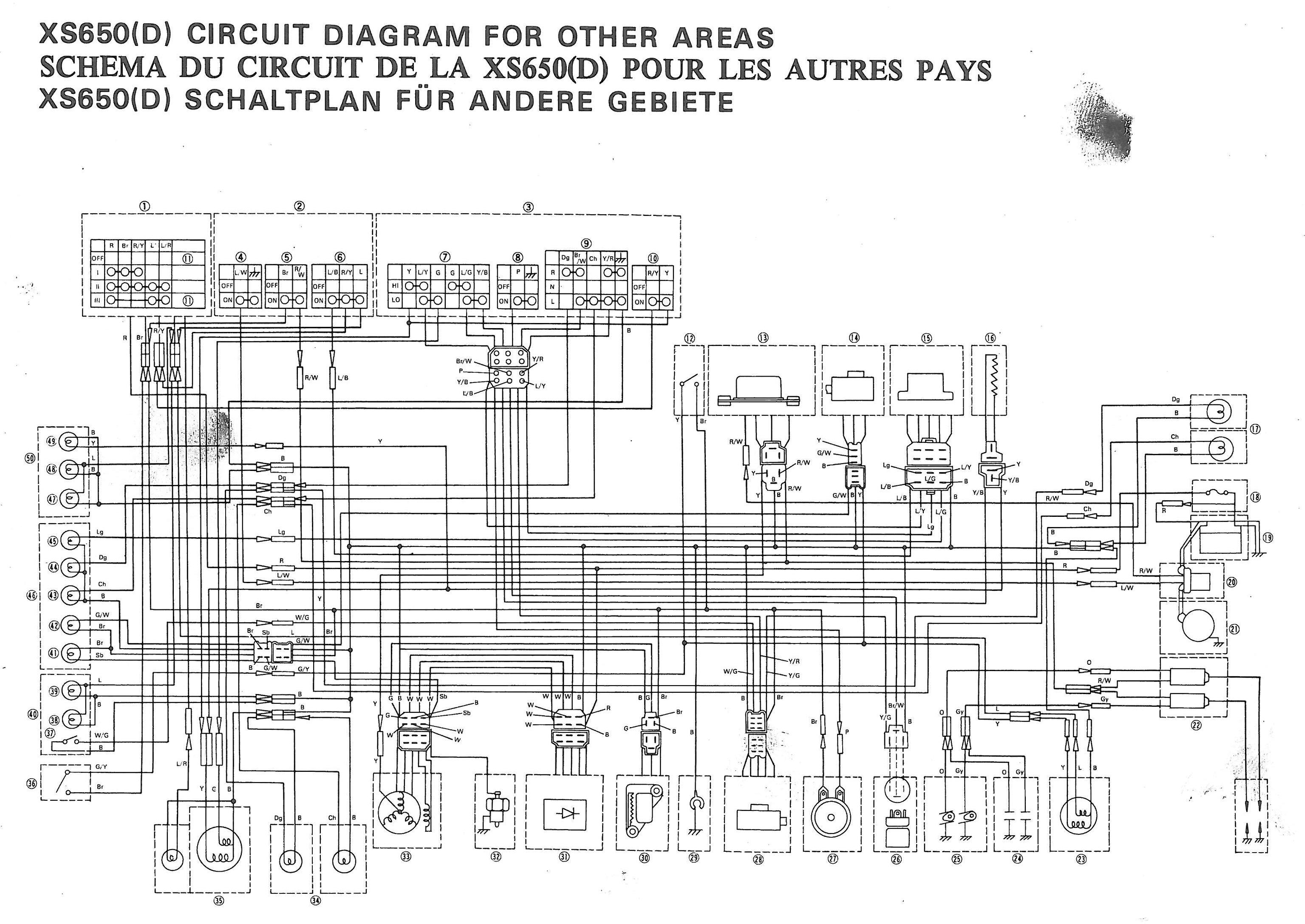 yamaha xs650 wiring diagram 1965 mustang ignition coil 77 xs d thexscafe