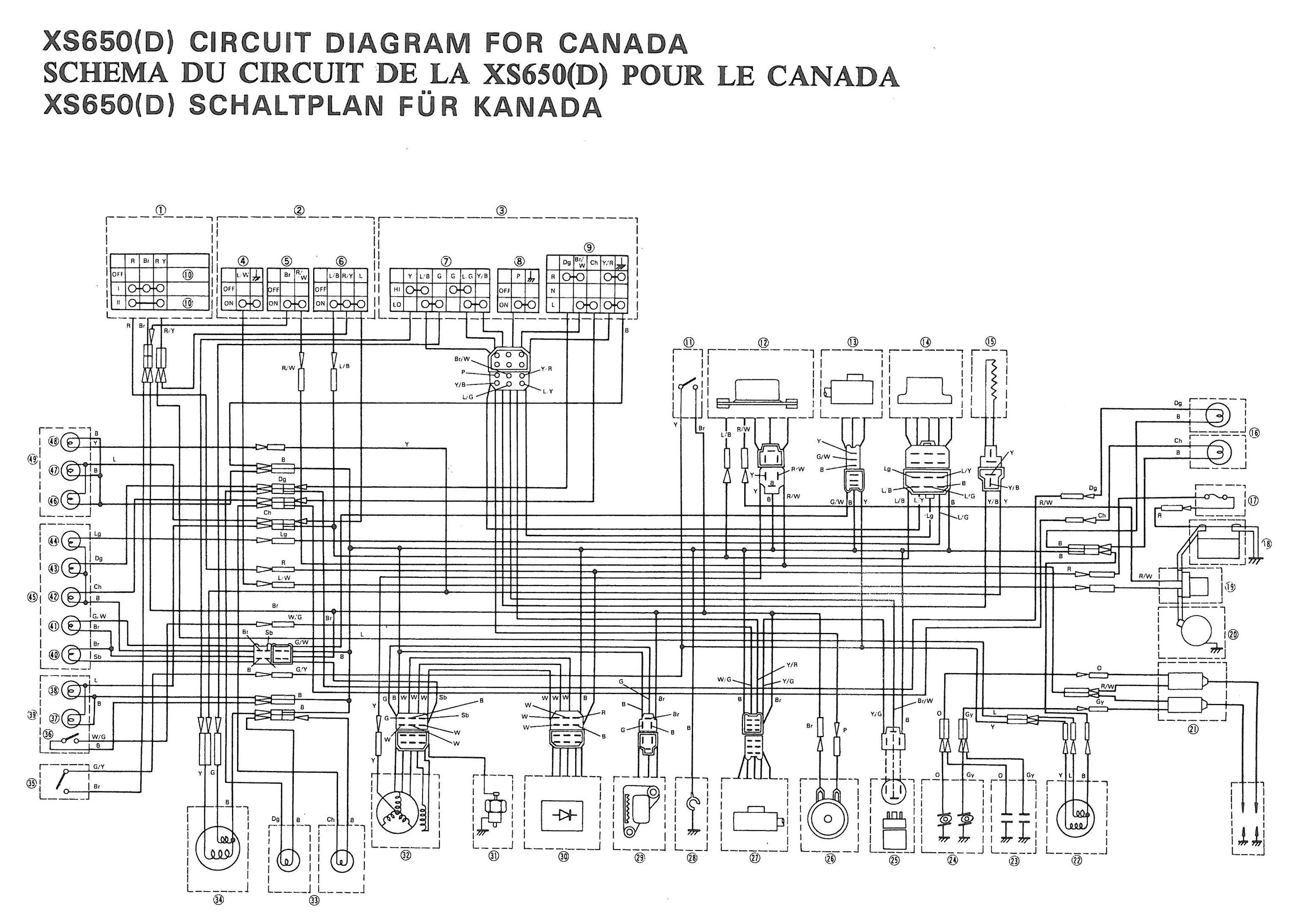 1979 yamaha xs750 special wiring diagram hobbiesxstyle 1981 xs650 wiring diagram 1978 yamaha xs650 wiring diagram [ 3114 x 2187 Pixel ]