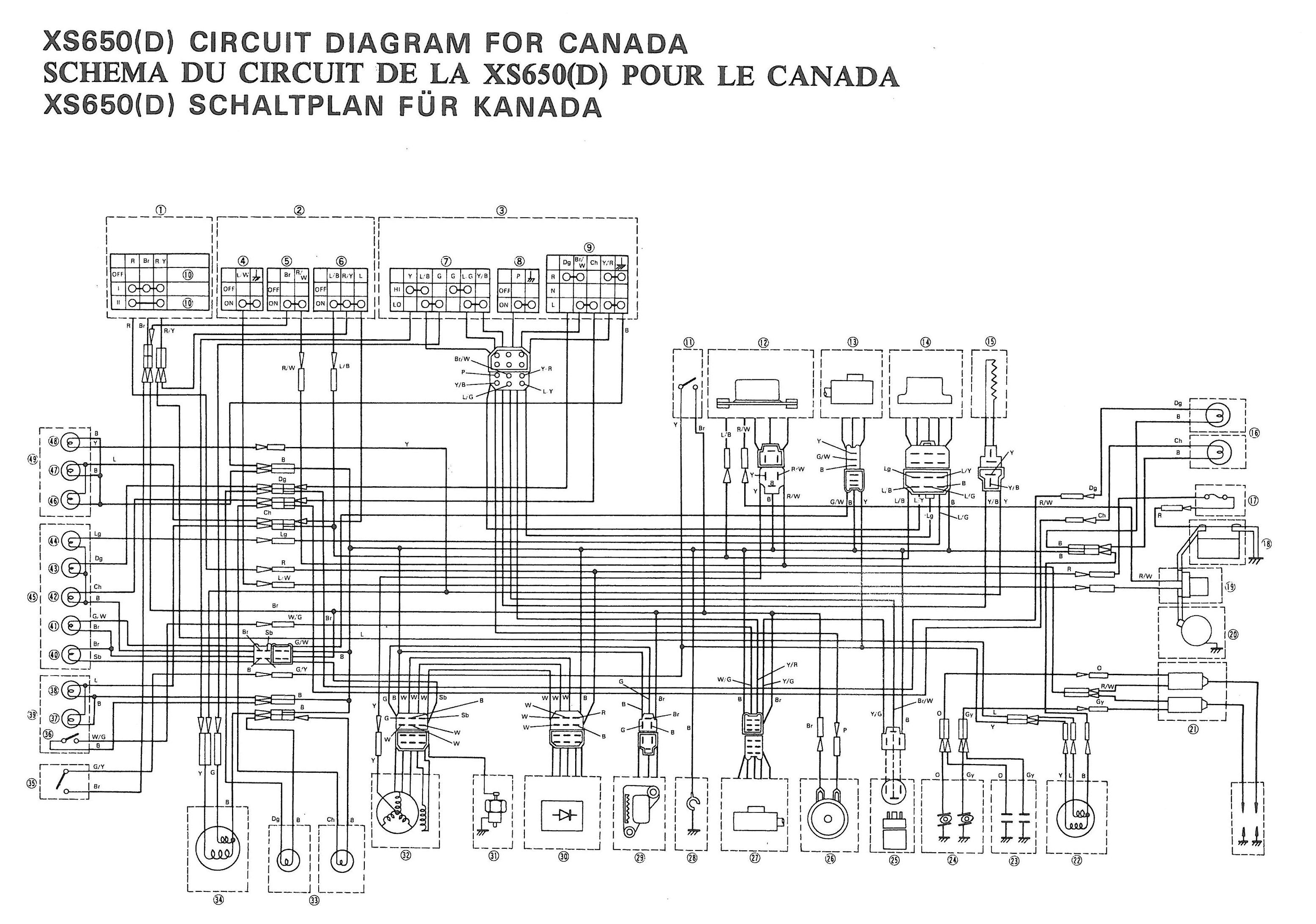 hight resolution of 1979 yamaha xs750 special wiring diagram hobbiesxstyle electrical wire diagram on a 1978 xs750 electrical wire