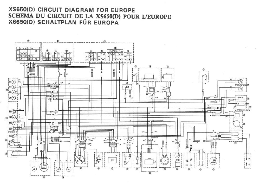 medium resolution of 1977 yamaha xs 650 wiring diagram best secret wiring diagram u2022 1979 yamaha xs650 1977 yamaha xs 650 wiring diagram