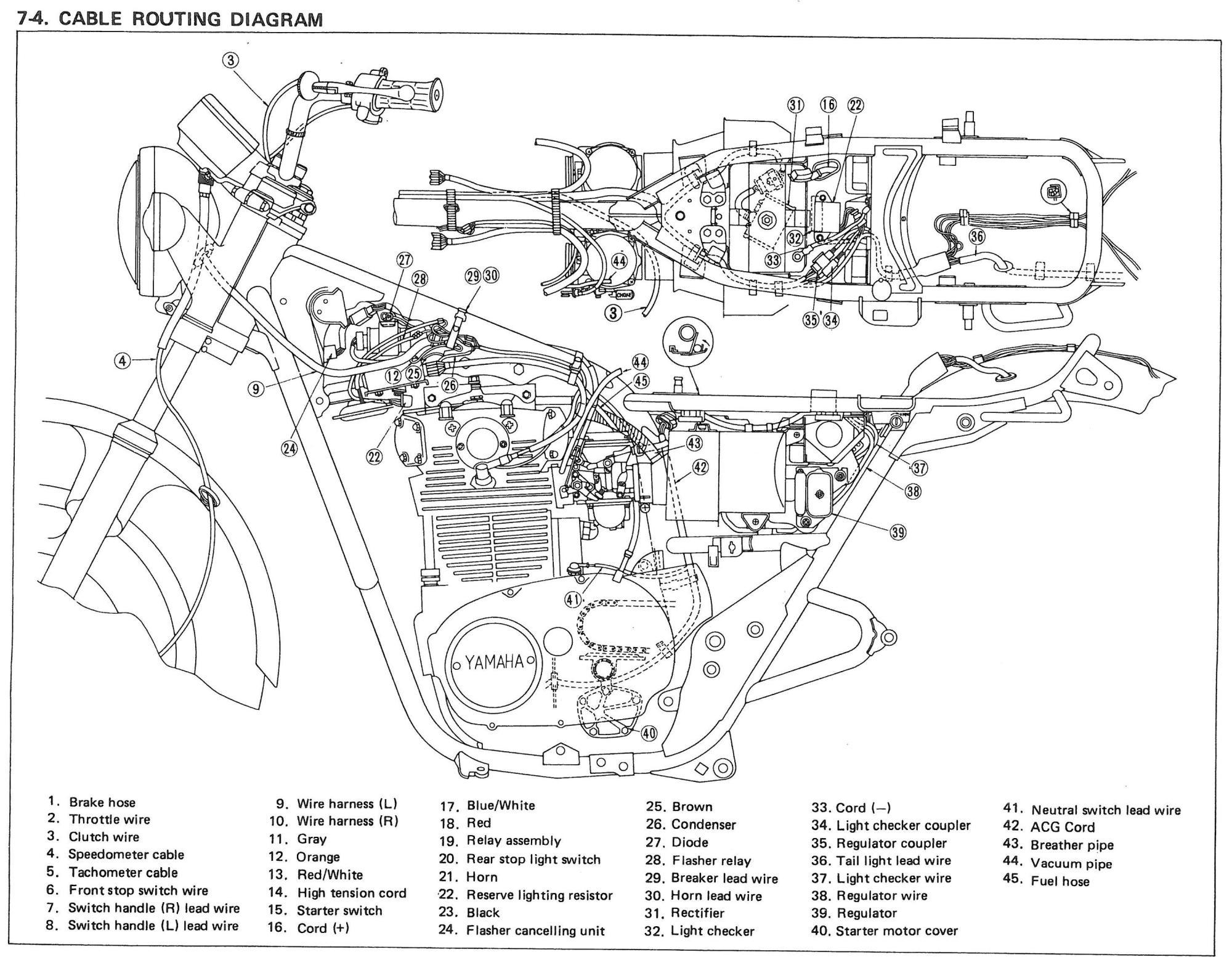 hight resolution of 78 yamaha dt 100 wiring schematic