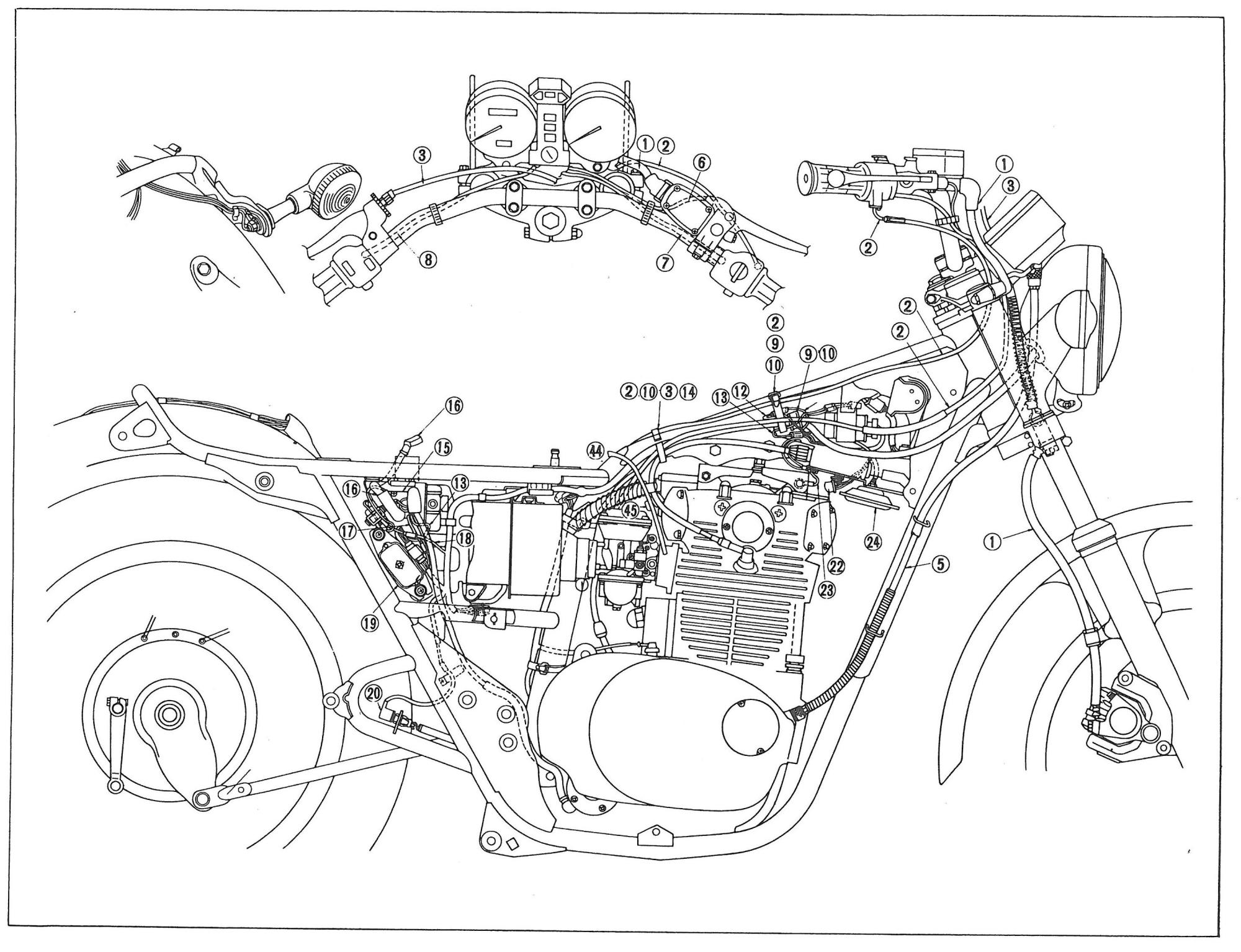hight resolution of 1979 yamaha xs650 wiring diagram schematics wiring diagrams u2022 rh parntesis co 1975 yamaha xs650 wiring