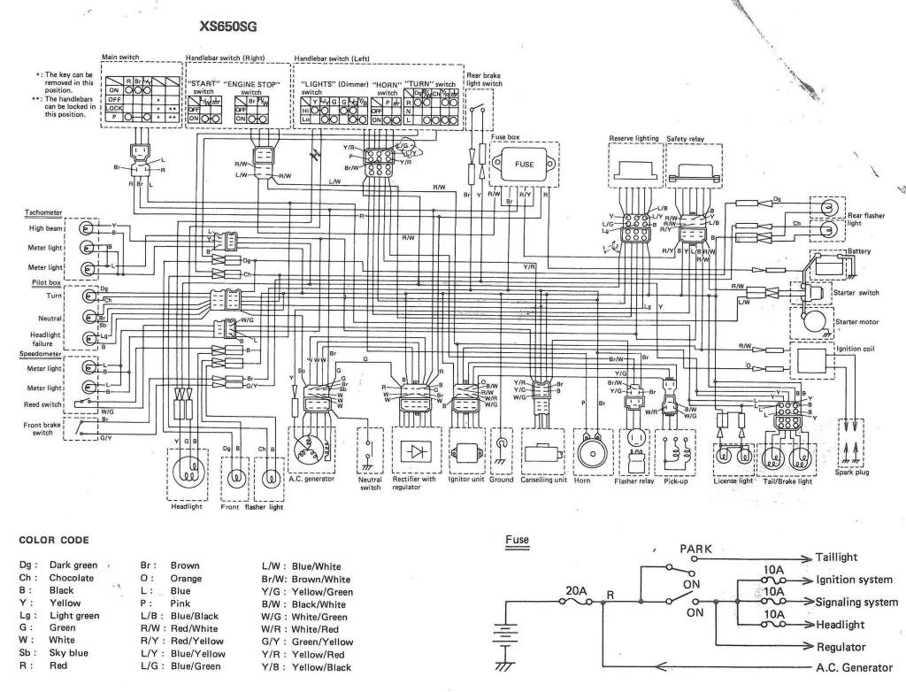 xs650 80 xs650g and sg wiring diagrams thexscafe [ 1024 x 782 Pixel ]