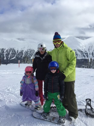 L.A. Fielding and family at Powder King