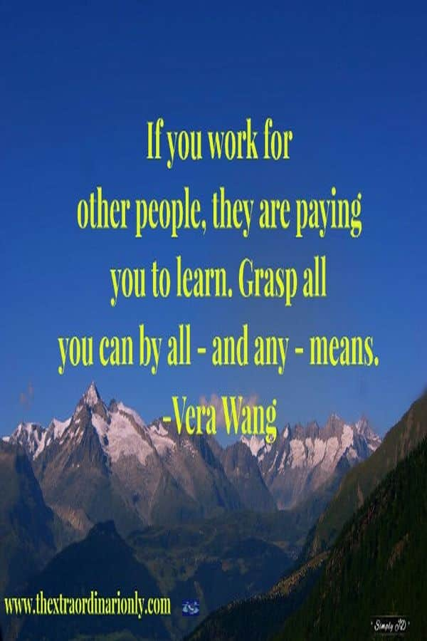 thextraordinarionly work for other people quote by Vera Wang