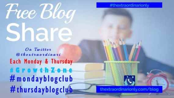 thextraordinarionly monday blog club and thursday blog club share of blogs on Twitter @thextraordinari @hazloe3 using #growthxzone #thextraordinarionly #thursdayblogclub #mondayblogclub